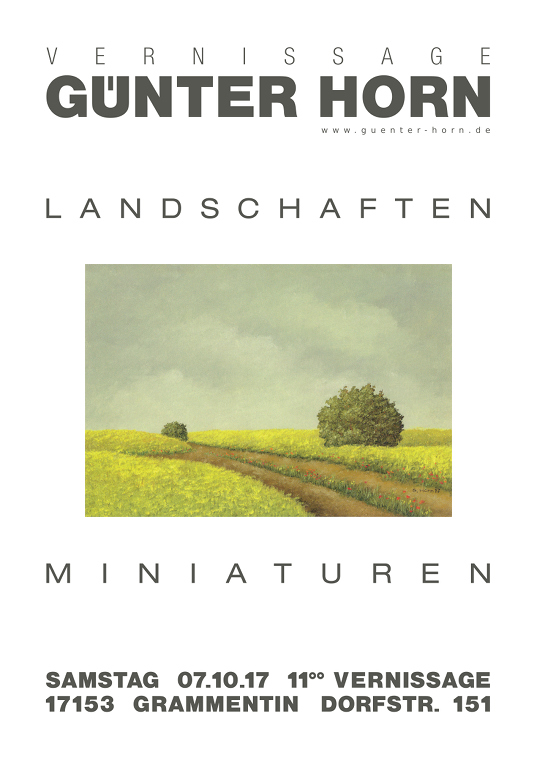 Vernissage Guenter Horn Oktober 2017 - Landschaften und Miniaturen